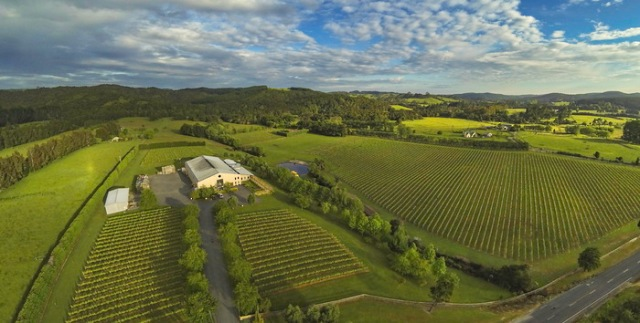 West Brook winery aerial view
