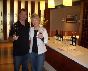 Terry and Christine at Milcrest Estate cellar door