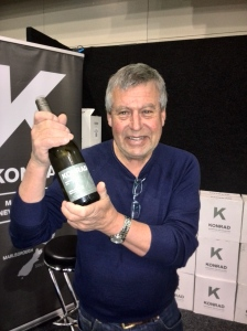 Konrad with his iconic Marlborough sauvignon blanc